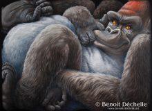 Gorille coincé – Acrylique sur toile – 150 x 200 cm