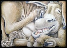 Âne coincé - Acrylique sur toile - 65 x 92 cm