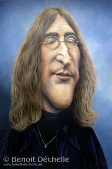 John Lennon - 1969 - Acrylique sur toile - 146 x 97 cm